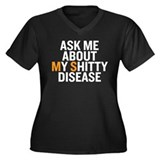 AskMe-Black Plus Size T-Shirt