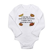 Comic Book Conventions Long Sleeve Infant Bodysuit