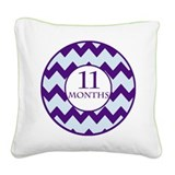 11 Months Chevron Milestone Square Canvas Pillow