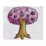 Cake Tree Throw Blanket