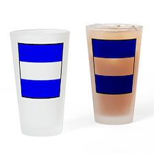 Nautical Flag Code Juliet Drinking Glass