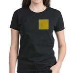 Yellow Latticework Women's Dark T-Shirt