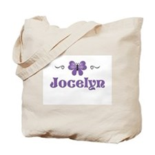 Purple Butterfly - Jocelyn Tote Bag
