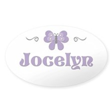 Purple Butterfly - Jocelyn Oval Decal