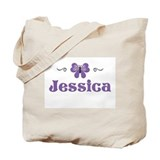 Purple Butterfly - Jessica Tote Bag
