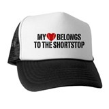 My Heart Belongs To The Shortstop Trucker Hat