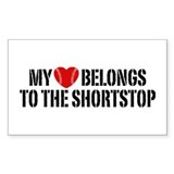 My Heart Belongs To The Shortstop Decal