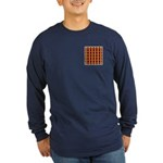 Orange And Yellow Latticework Long Sleeve Dark T