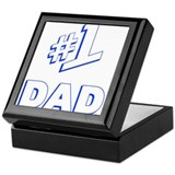 #1 Dad - Number one Dad Keepsake Box