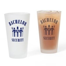 Bachelor Security (Stag Night / Blue) Drinking Gla