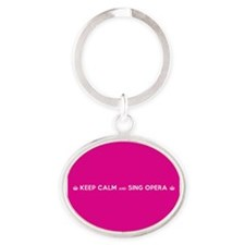 Unique Opera Oval Keychain