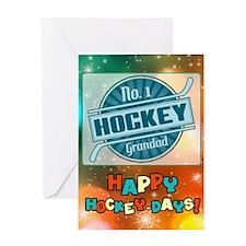 No. 1 Hockey Grandad Christmas Card Greeting Cards