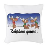 rudolph left out copy.jpg Woven Throw Pillow