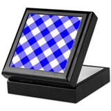 Blue and White Gingham Keepsake Box