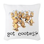 cooties copy.jpg Woven Throw Pillow