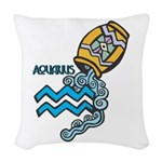 aquarius water symbol.jpg Woven Throw Pillow
