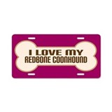 Redbone Coonhound Aluminum License Plate