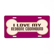 Redbone Coonhound Aluminum License Plate