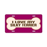 Silky Terrier Aluminum License Plate