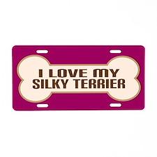 Silky Terrier Aluminum License Plate