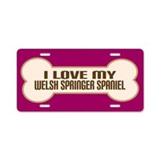 Welsh Springer Spaniel Aluminum License Plate
