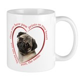 Pug Paw Prints Mug