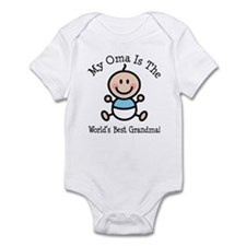 Oma Is The Worlds Best Grandma Infant Bodysuit