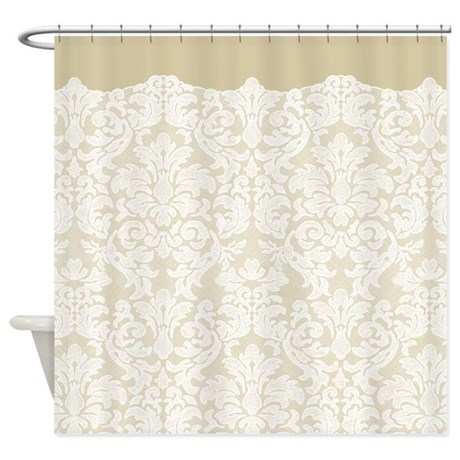 Tan And White Shower Curtain Plum and Tan Shower Curtain