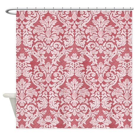 Lace Pattern White Coral Shower Curtain By MarshEnterprises