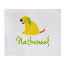 Nathanael Loves Puppies Throw Blanket