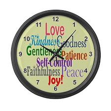 Fruit of the Spirit Large Wall Clock