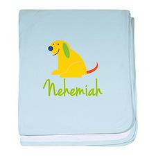 Nehemiah Loves Puppies baby blanket