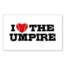 I Love The Umpire Decal