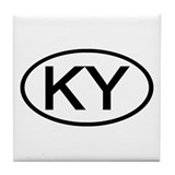 KY Oval - Kentucky Tile Coaster