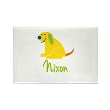 Nixon Loves Puppies Rectangle Magnet (100 pack)