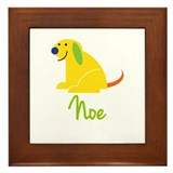 Noe Loves Puppies Framed Tile