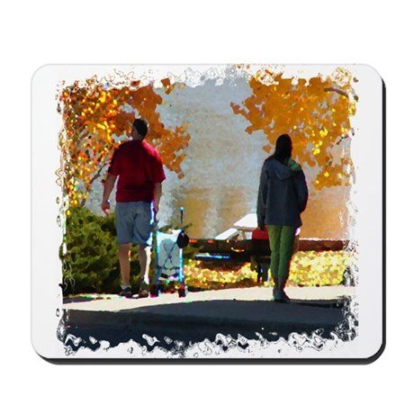 Early Autumn Stroll Mousepad