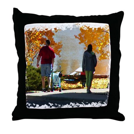 Early Autumn Stroll Throw Pillow