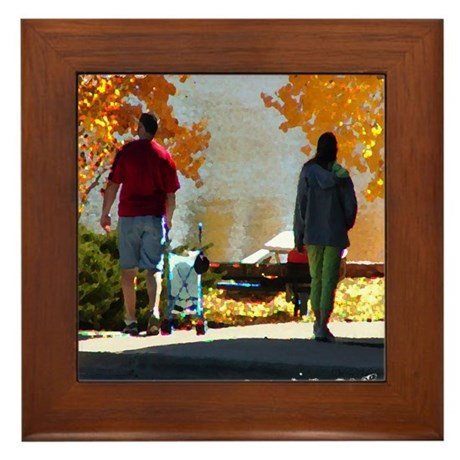 Early Autumn Stroll Framed Tile