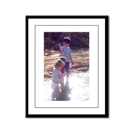 River Fun Framed Panel Print