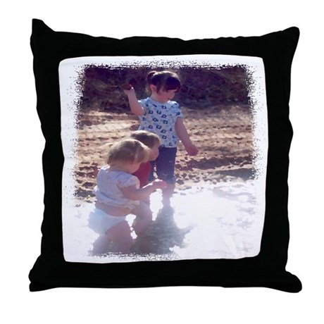 River Fun Throw Pillow