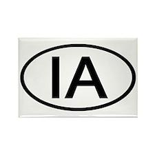IA Oval - Iowa Rectangle Magnet (10 pack)