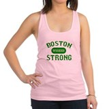Boston Wicked Strong - Green Racerback Tank Top