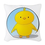 Whee! Chick v2.0 Woven Throw Pillow