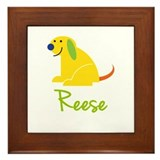 Reese Loves Puppies Framed Tile