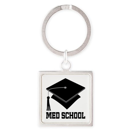 Med School Best Gift Square Keychain