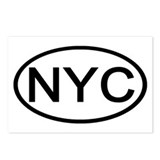 NYC Oval - New York City Postcards (Package of 8)