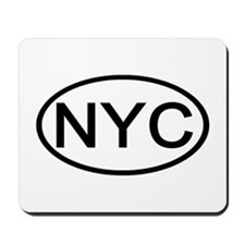 NYC Oval - New York City Mousepad