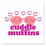 Cuddle Muffins Square Car Magnet 3