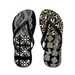 Flip Flops Black and White Collage